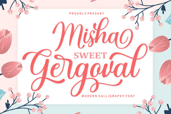 Print on Demand: Misha Gergoval Script & Handwritten Font By rotterlabstudio