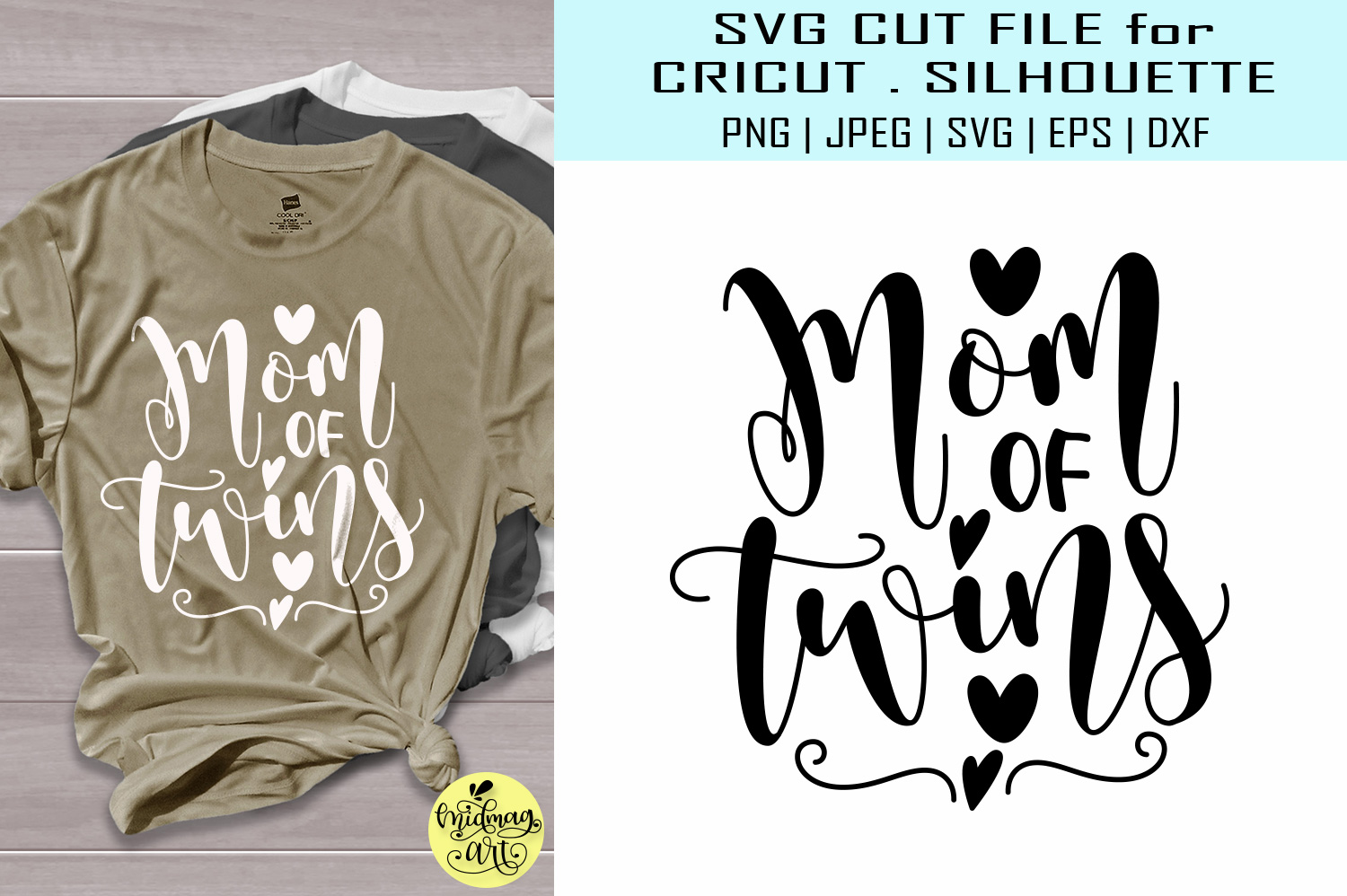 Download Free Mom Of Twins Grafik Von Midmagart Creative Fabrica for Cricut Explore, Silhouette and other cutting machines.