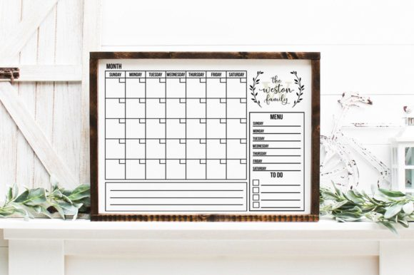 Print on Demand: Monogram Family Calendar Graphic Crafts By Simply Cut Co