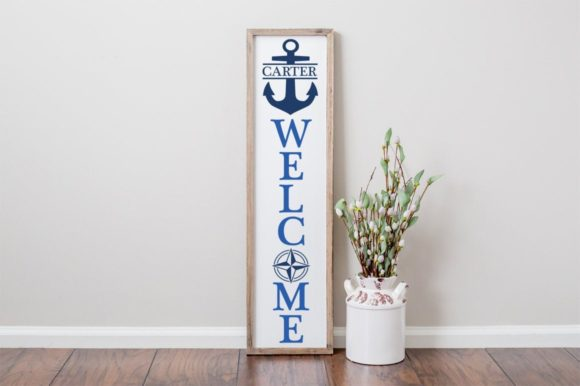 Print on Demand: Monogram Nautical Welcome Sign Graphic Crafts By Simply Cut Co