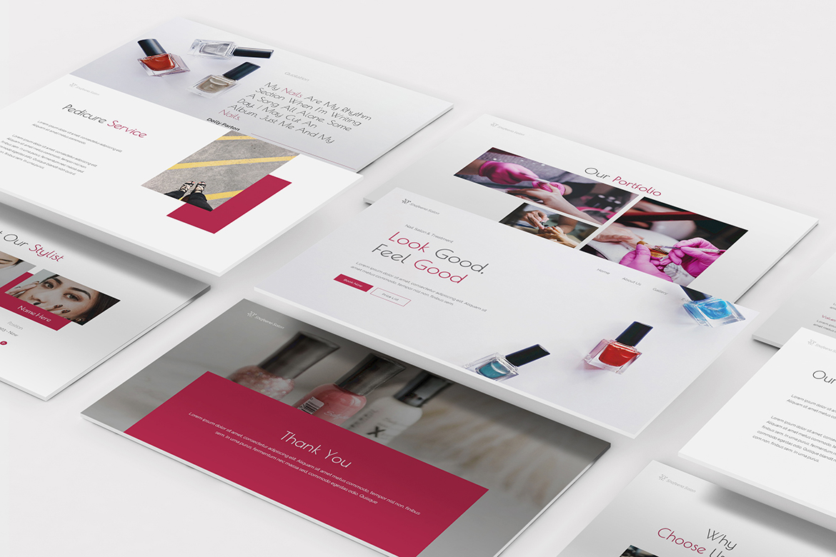 Download Free Nail Salon Google Slides Template Graphic By Formatikastd for Cricut Explore, Silhouette and other cutting machines.