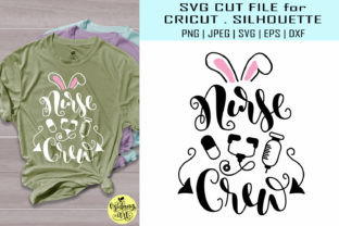 Download Free Nurse Crew Easter Shirt Graphic By Midmagart Creative Fabrica for Cricut Explore, Silhouette and other cutting machines.