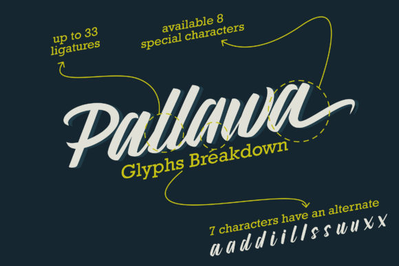 Download Free Pallawa Font By Candacreative Creative Fabrica for Cricut Explore, Silhouette and other cutting machines.