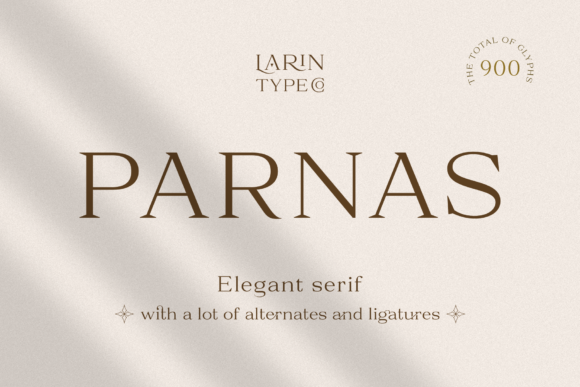 Print on Demand: Parnas Serif Font By Pasha Larin