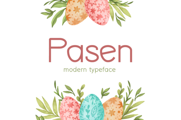 Print on Demand: Pasen Display Font By Seemly Fonts