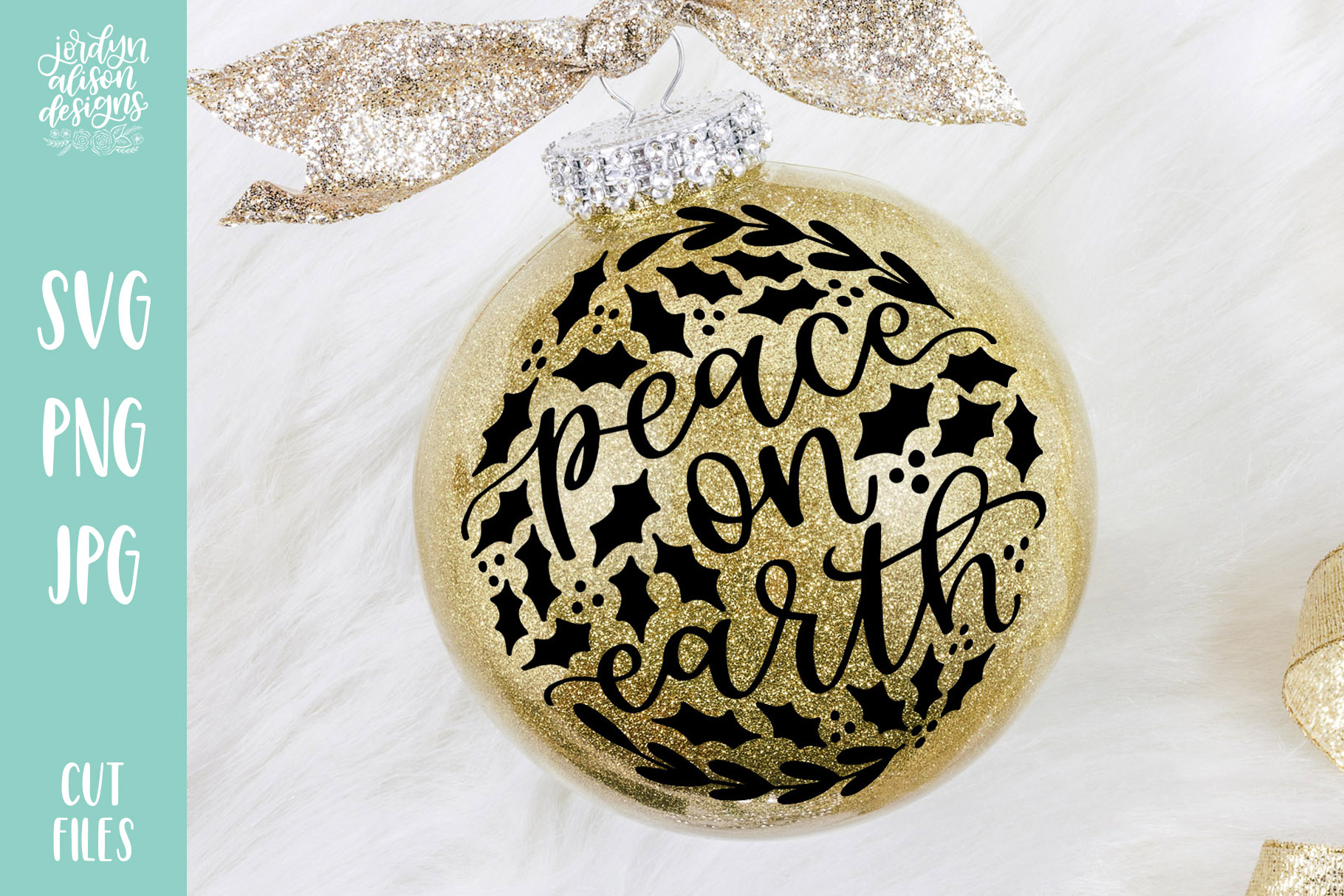 Download Free Peace On Earth Filled Christmas Graphic By Jordynalisondesigns for Cricut Explore, Silhouette and other cutting machines.