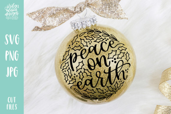 Download Free Peace On Earth Outlined Christmas Graphic By for Cricut Explore, Silhouette and other cutting machines.