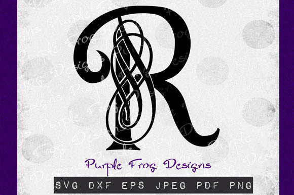 Download Free R Monogram Filigree Monogram Graphic By Heather Terry Creative Fabrica for Cricut Explore, Silhouette and other cutting machines.