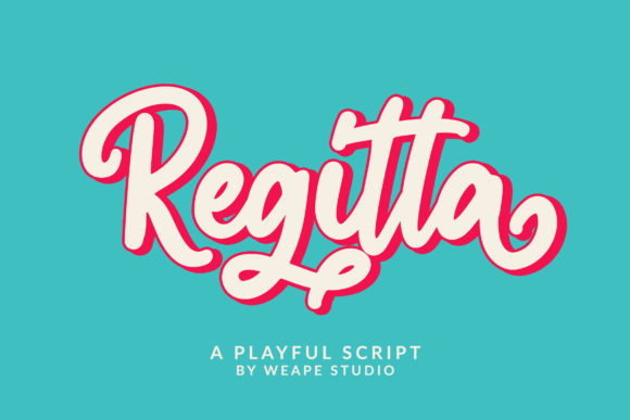 Print on Demand: Regitta Script & Handwritten Font By Weape Design