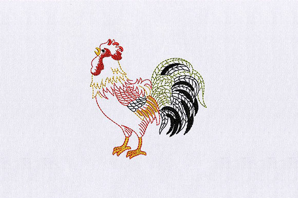 Rooster Male Birds Embroidery Design By DigitEMB - Image 1
