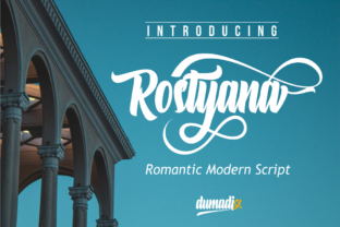 Print on Demand: Rostyana Script & Handwritten Font By DUMADI