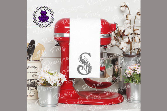 Download Free S Monogram Filigree Monogram Graphic By Heather Terry Creative for Cricut Explore, Silhouette and other cutting machines.