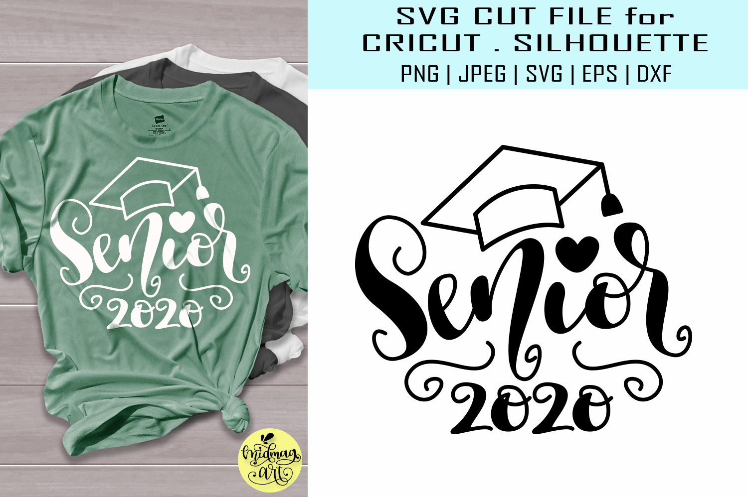 Download Free Senior 2020 Graduation 2020 Graphic By Midmagart Creative Fabrica for Cricut Explore, Silhouette and other cutting machines.