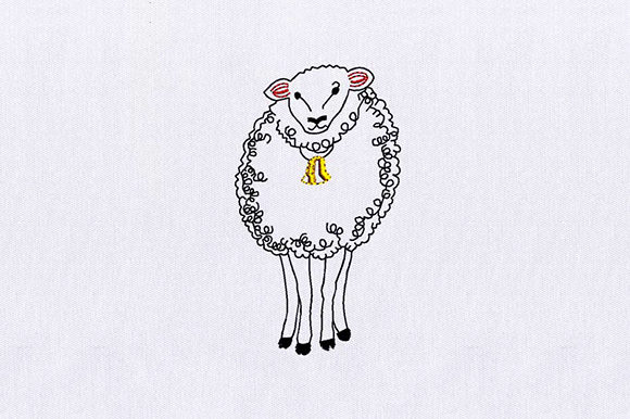 Sheep Farm Animals Embroidery Design By DigitEMB