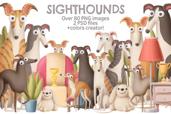 Print on Demand: Sighthounds Graphic Illustrations By Architekt_AT