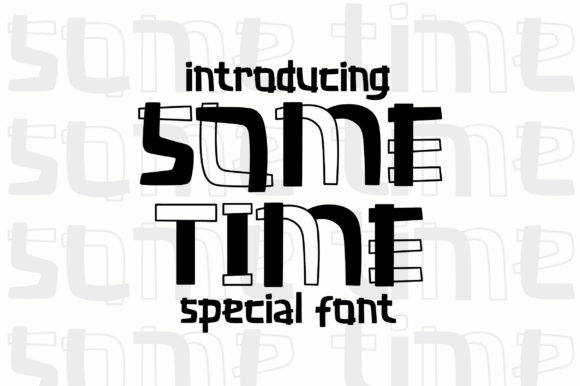 Print on Demand: Some Time Display Font By Caoca Studio