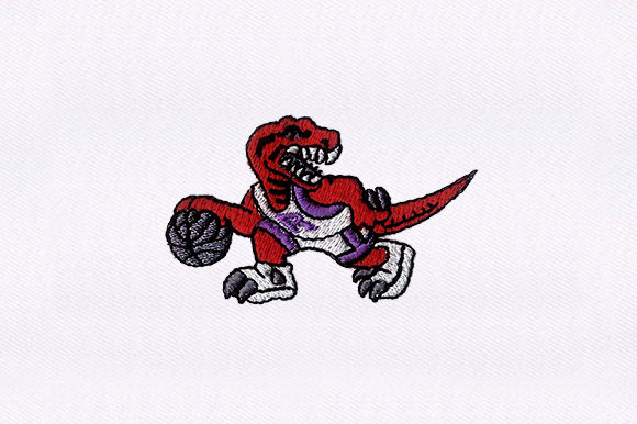 Sporty Dinosaur Dinosaurs Embroidery Design By DigitEMB