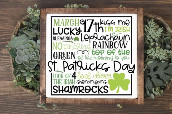 Print on Demand: St. Patrick's Day Subway Art Graphic Crafts By Simply Cut Co