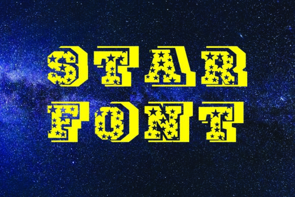Print on Demand: Star Display Font By KtwoP