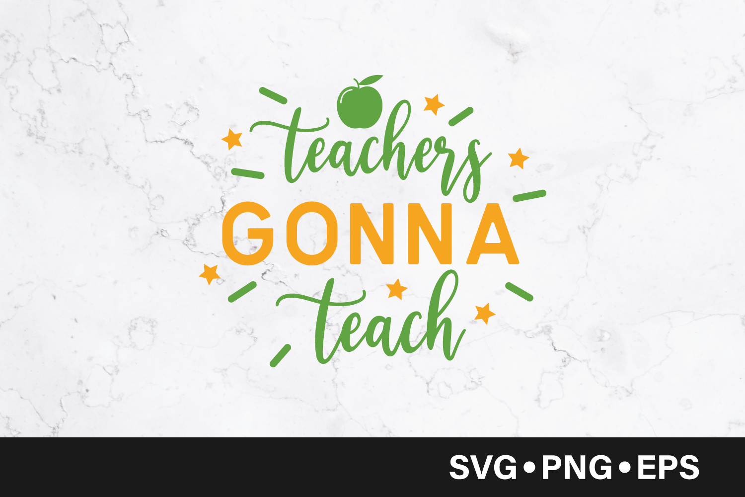 Download Free Teacher Gonna Teach Graphic By Vectorbundles Creative Fabrica for Cricut Explore, Silhouette and other cutting machines.