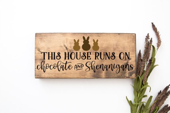 Print on Demand: This House Runs on Chocolate Graphic Crafts By Simply Cut Co