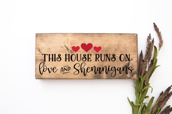 Print on Demand: This House Runs on Love Graphic Crafts By Simply Cut Co