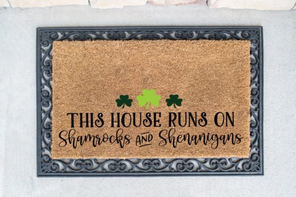Print on Demand: This House Runs on Shamrocks Graphic Crafts By Simply Cut Co