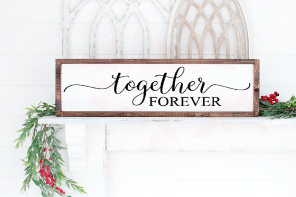 Download Free Together Forever Wedding Graphic By Farmstone Studio Designs for Cricut Explore, Silhouette and other cutting machines.