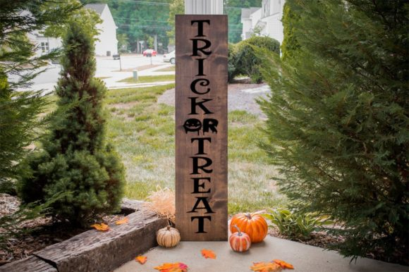 Print on Demand: Trick or Treat Front Porch Sign Graphic Crafts By Simply Cut Co