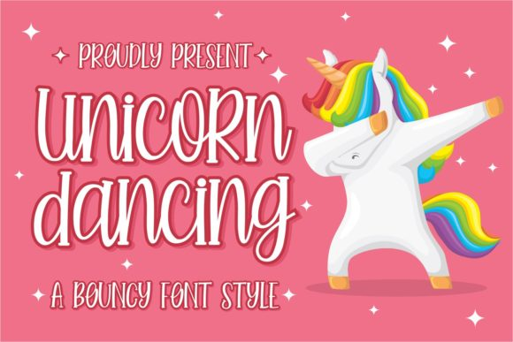 Print on Demand: Unicorn Dancing Script & Handwritten Font By zainstudio