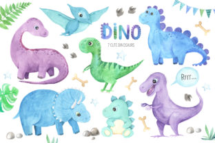 Watercolor Dinosaurs Collection - 2