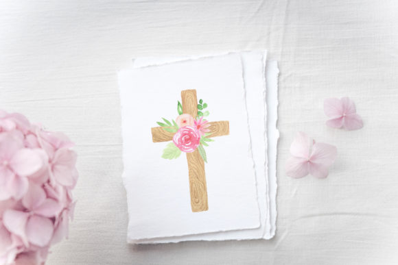 Watercolor Easter Floral Crosses Graphic Illustrations By Larysa Zabrotskaya - Image 4