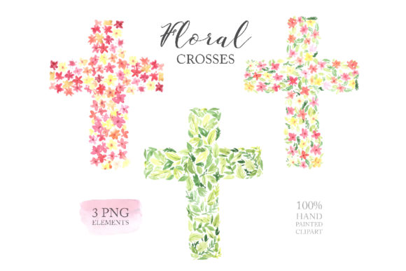 Watercolor Easter Floral Crosses Graphic Illustrations By Larysa Zabrotskaya - Image 5
