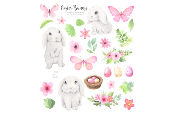 Watercolor Easter Spring Bunny Set Graphic Illustrations By Larysa Zabrotskaya - Image 11