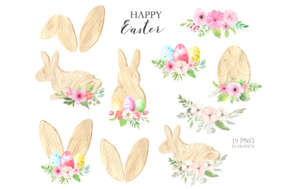 Watercolor Easter Spring Bunny Set Graphic Illustrations By Larysa Zabrotskaya - Image 16