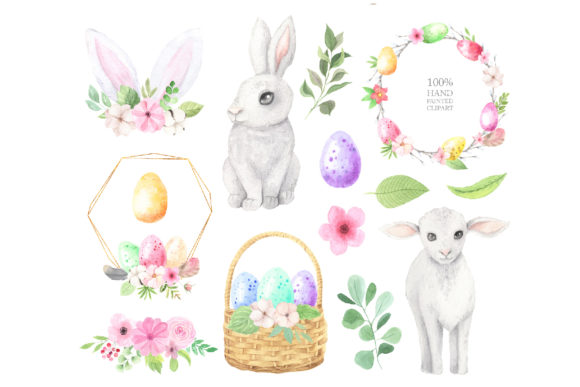 Watercolor Easter Spring Bunny Set Graphic Illustrations By Larysa Zabrotskaya - Image 3