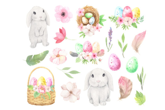 Watercolor Easter Spring Bunny Set Graphic Illustrations By Larysa Zabrotskaya - Image 4