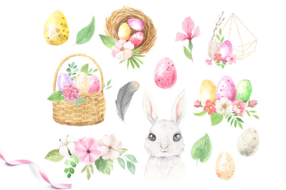 Watercolor Easter Spring Bunny Set Graphic Illustrations By Larysa Zabrotskaya - Image 5