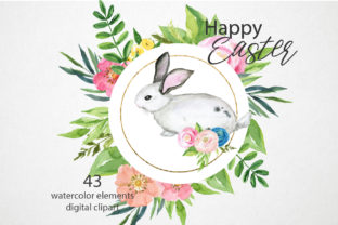 Download Free Watercolor Easter Bunny Clipart Set Graphic By Lena Dorosh Creative Fabrica for Cricut Explore, Silhouette and other cutting machines.