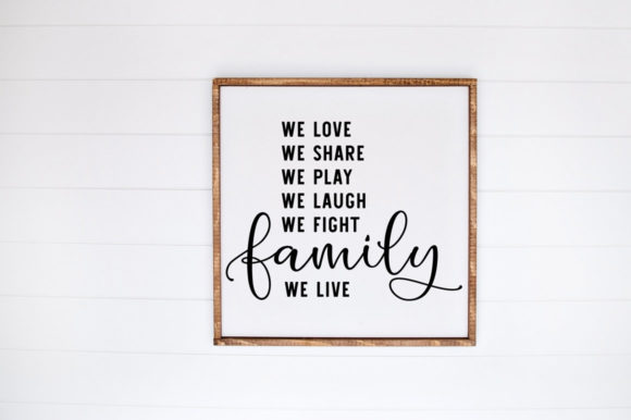 Print on Demand: We Laugh We Share Family Cut File Graphic Crafts By Simply Cut Co