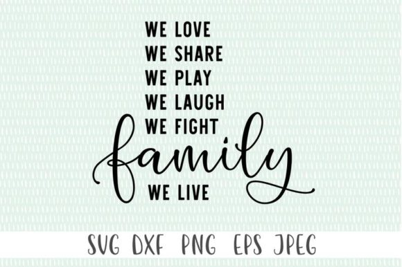 Download Free We Laugh We Share Family Cut File Graphic By Simply Cut Co for Cricut Explore, Silhouette and other cutting machines.