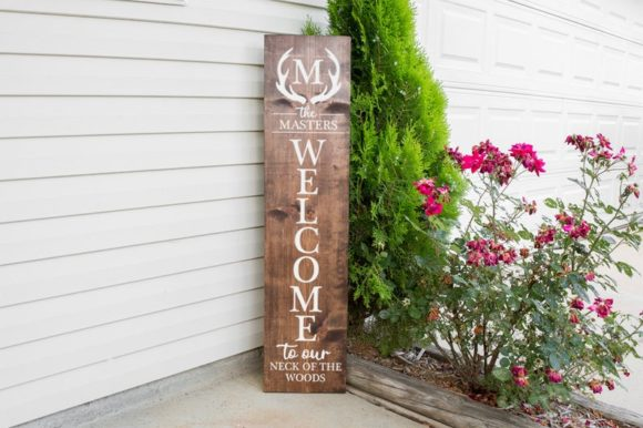 Download Free Monogram Family Front Porch Sign Graphic By Simply Cut Co for Cricut Explore, Silhouette and other cutting machines.