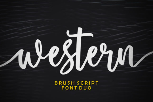 Print on Demand: Western Duo Script & Handwritten Font By softcreative50 - Image 1