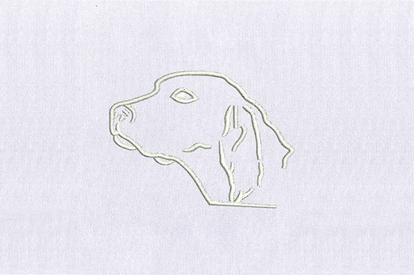 White Dog Face Dogs Embroidery Design By DigitEMB