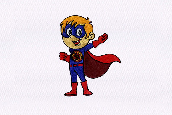 Young Superhero Toys & Games Embroidery Design By DigitEMB