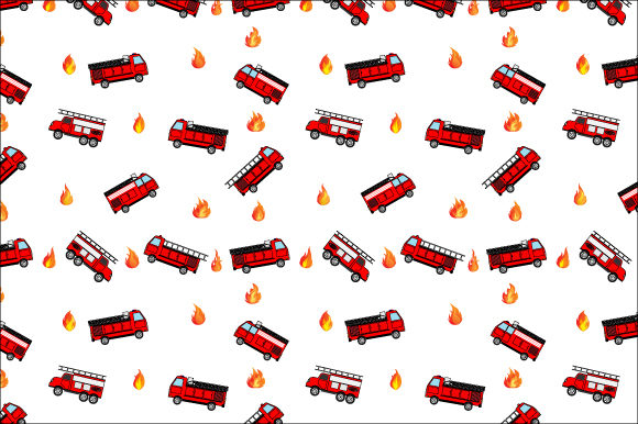 Download Free Fire Engine Truck Pattern Graphic By Curutdesign Creative Fabrica for Cricut Explore, Silhouette and other cutting machines.