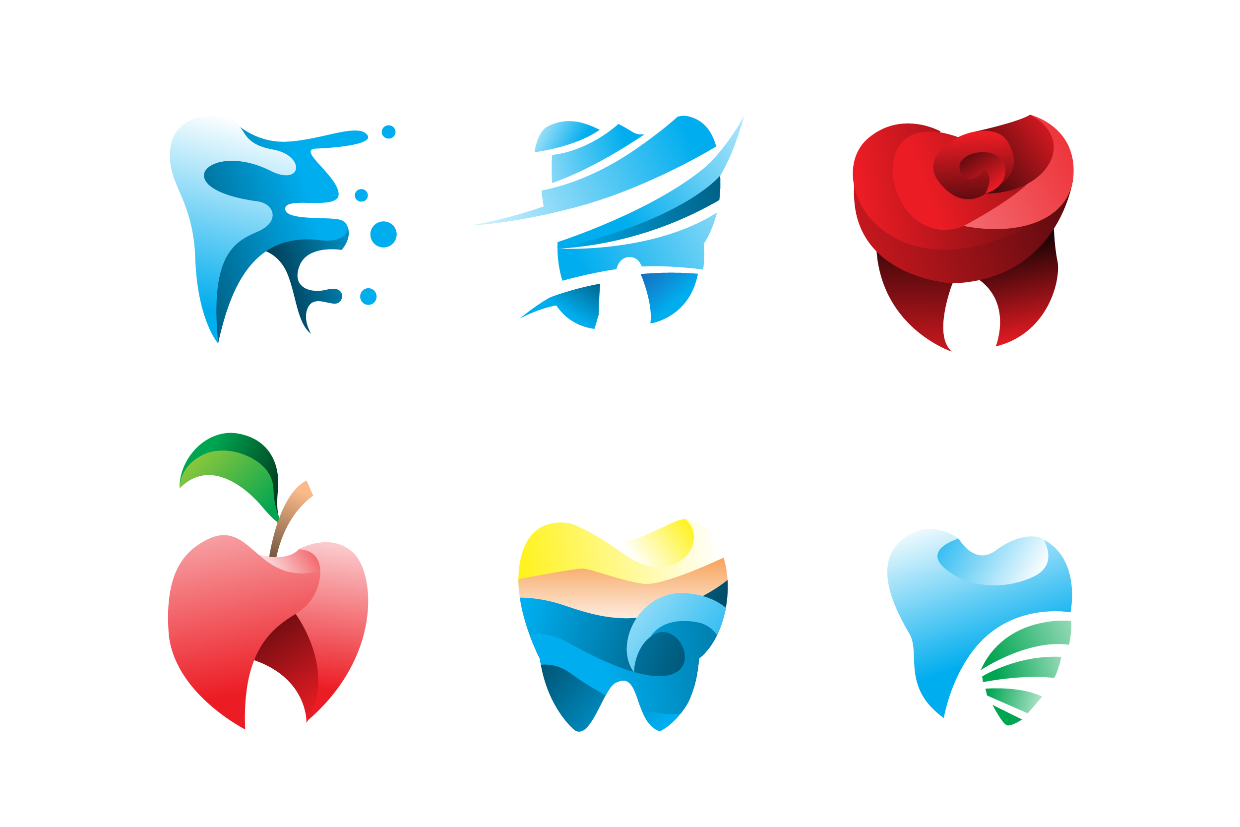 Download Free Modern Dental Tooth Logo Vector Pack Graphic By Aksa Inov008 for Cricut Explore, Silhouette and other cutting machines.