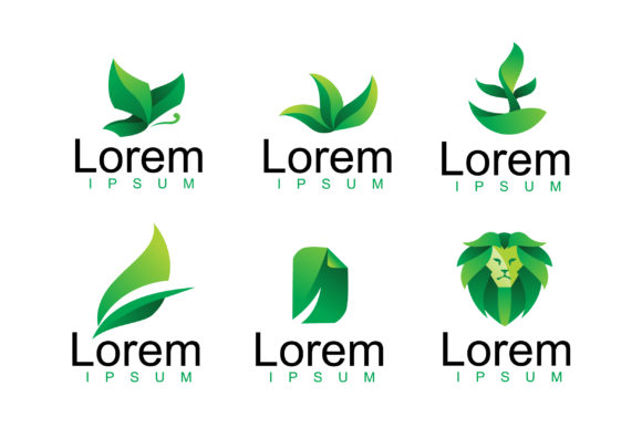 Download Free Modern Green Leaf Logo Vector Pack Graphic By Aksa Inov008 for Cricut Explore, Silhouette and other cutting machines.
