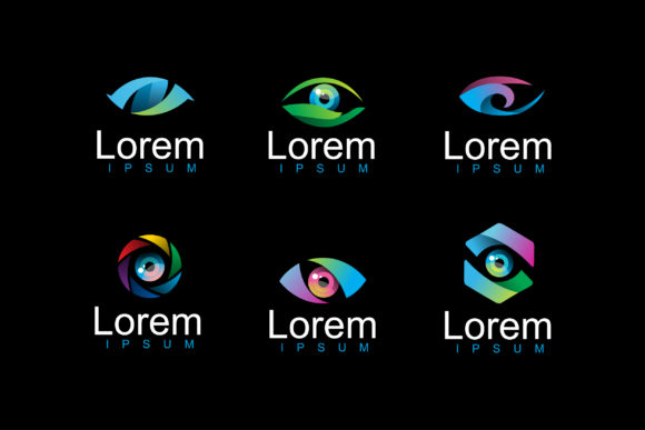 Download Free Pack Of Modern Eye Logo Vector Graphic By Aksa Inov008 for Cricut Explore, Silhouette and other cutting machines.
