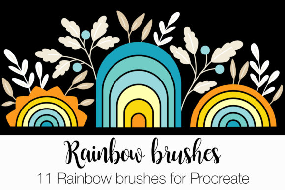 11 Rainbow Brushes for Procreate Graphic Brushes By ElenaNaylor